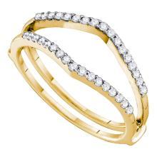 0.25 CTW Diamond Ring 14KT Yellow Gold - REF-30K2W