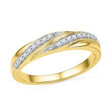 0.10 CTW Diamond Simple Ring 10KT Yellow Gold - REF-14N9F