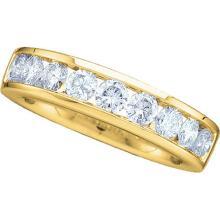 0.50 CTWDiamond Wedding Ring 14KT Yellow Gold - REF-52X4Y