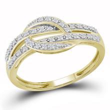 0.10 CTW Diamond Ring 10KT Yellow Gold - REF-16F4N