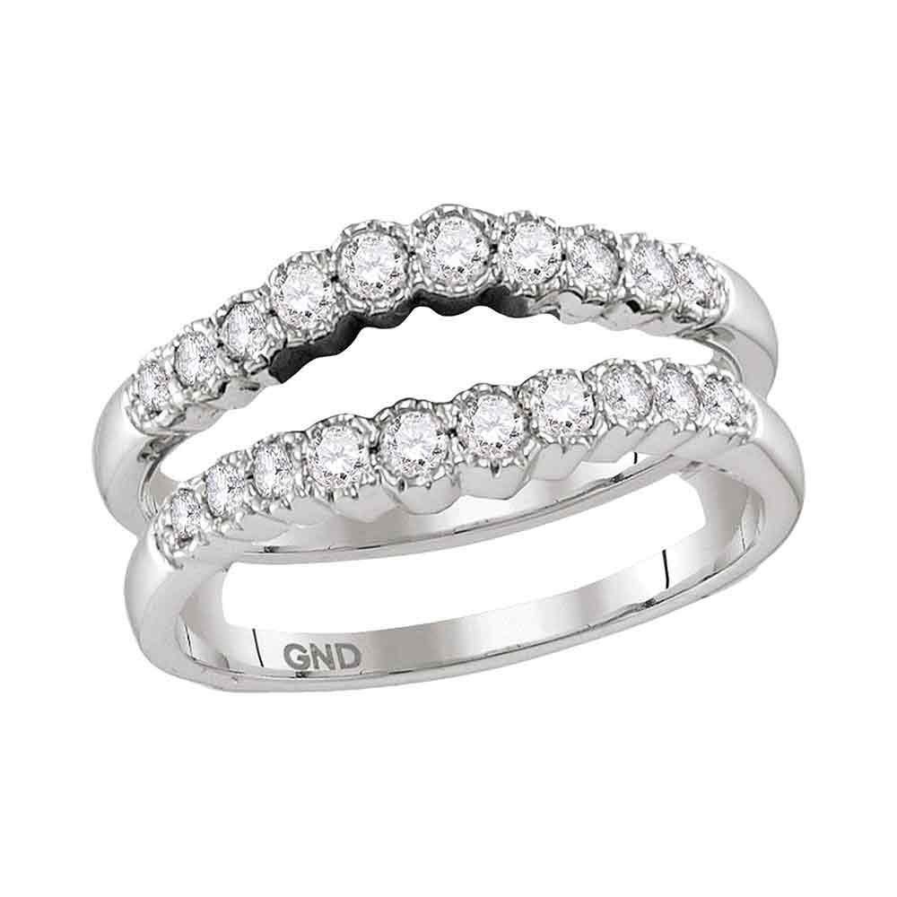 0.50 CTW Diamond Ring 14KT White Gold - REF-64W4K
