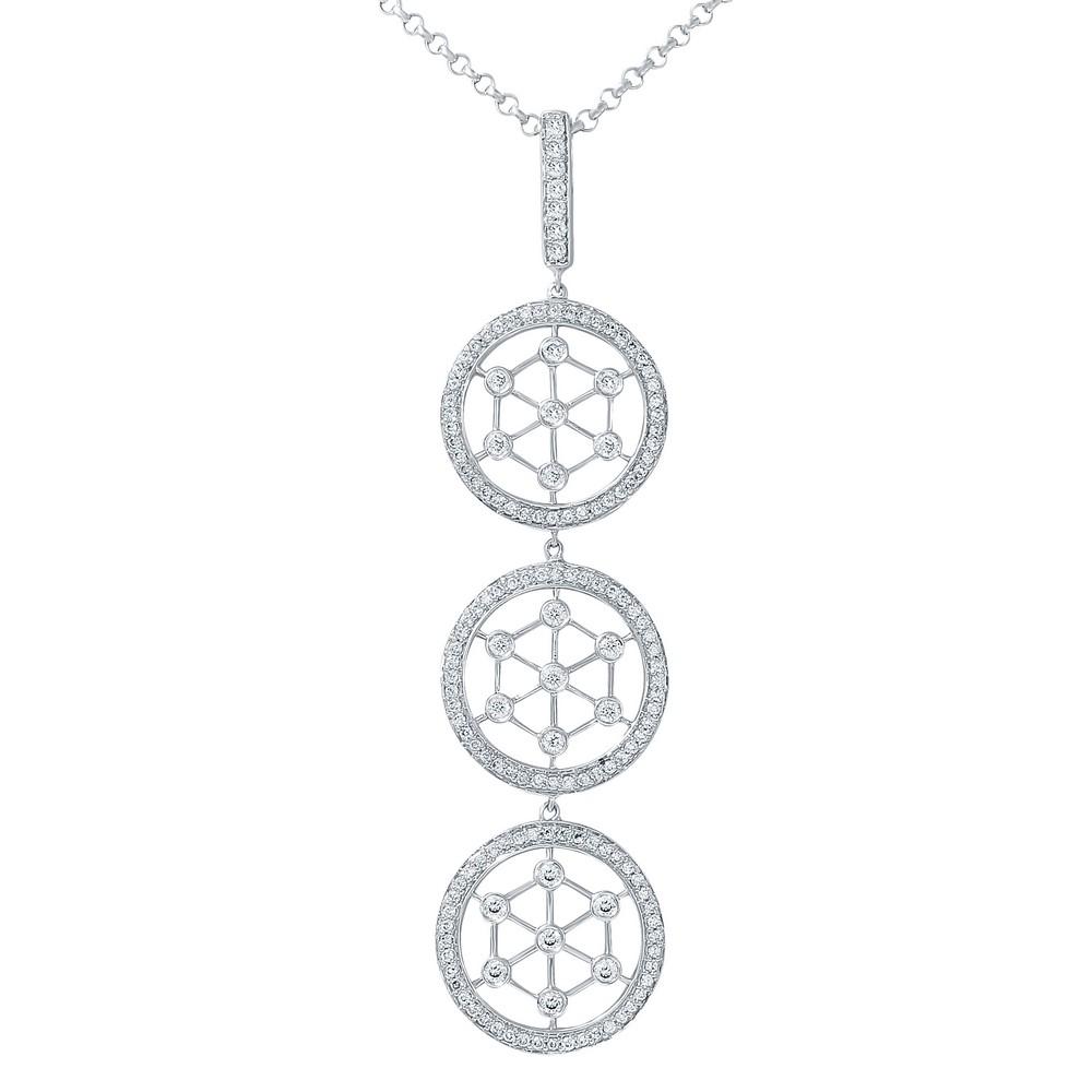 1.14 CTW Diamond Necklace 14K White Gold - REF-97M8F