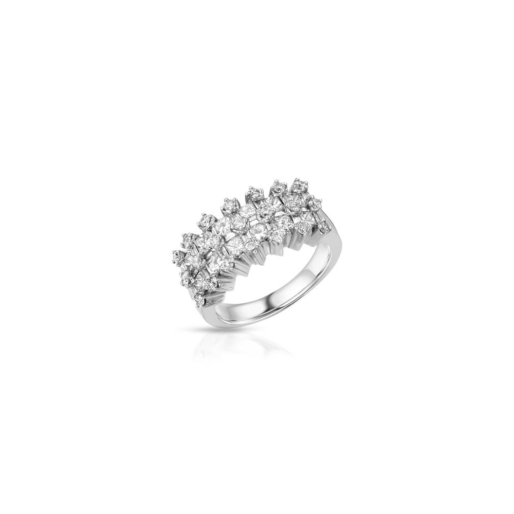 1.96 CTW Diamond Ring 18K White Gold - REF-224W3H