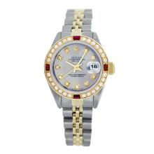 Rolex Pre-owned 26mm Womens Custom Grey Two Tone - REF-530W3Y