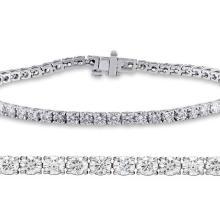 Natural 2ct VS-SI Diamond Tennis Bracelet Platinum - REF-240N3H