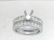 Genuine 1.38 CTW Diamond Engagement  Ring in 14K White Gold - REF-144H2R