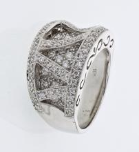 Genuine 1.22 CTW Diamond Fashion  Ring in 18K White Gold - REF-185K5T