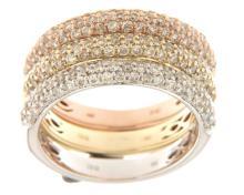 Genuine 1.7 CTW Diamond Stack  Ring in 14K White Gold - REF-144R2K