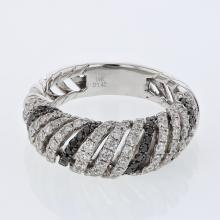 Genuine 1.42 CTW Diamond Fashion  Ring in 14K White Gold - REF-132X6W