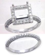 Genuine 1.36 CTW Diamond Engagement  Ring in 14K White Gold - REF-90K9T
