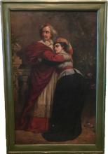 """Very Rare Large Oil Painting by Sir Sydney Prior Hall Entitled """"The Opera"""""""