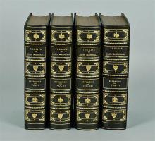 "Leather Books From Tom Clancy Collection – First Edition of Albert Beveridge's ""The Life of John Marshall"" 4 Volume Set"