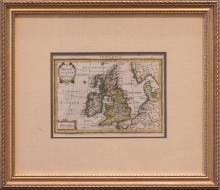Mercator - Hondius Hand Colored Map of the British Isles, 1628