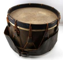 Couesnon Civil War Field Drum with Leather Belt