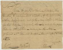 Revolutionary War Document Signed by Oliver Ellsworth re: Continental Army Equipment Purchases