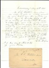 Profound Civil War Confederate Letter Dated 1861