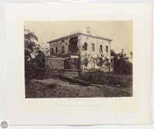 George N. Barnard Original Civil War Albumen Photograph – The Potter House Atlanta – Photographic Views Of Sherman's Campaign