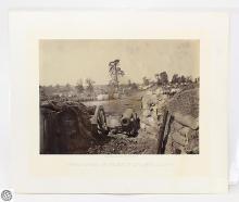 George N. Barnard Original Civil War Albumen Photograph – Rebel Works in Front of Atlanta, No. 3 – Photographic Views Of Sherman's Campaign