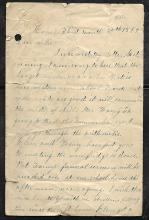 Civil War Letter Dated March 1862 Regarding the Tennessee Battle of Fort Donelson