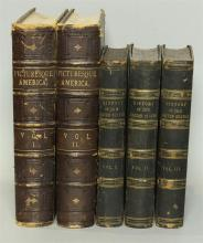 2 Sets of Historical 19th Century Leather Books from the Personal Library of Tom Clancy (5 Vols)