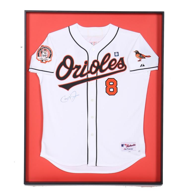 online store 57756 dea2a Cal Ripken Jr. Autographed Orioles Jersey