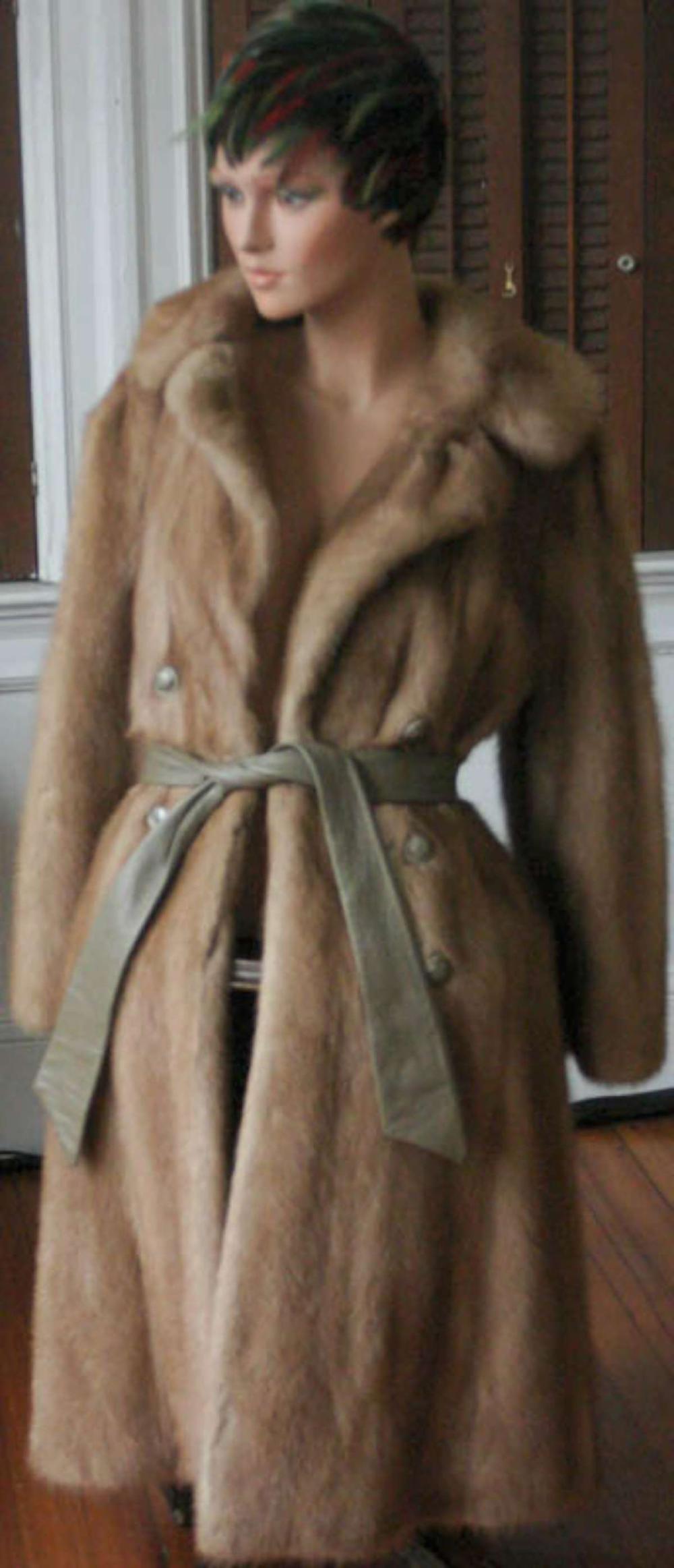 Mink Coat Value >> Vintage Ladies Fur Coat By Gimbels Fur Salon