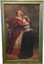 "Sir Sydney Prior Hall Oil Painting Entitled ""The Opera"""