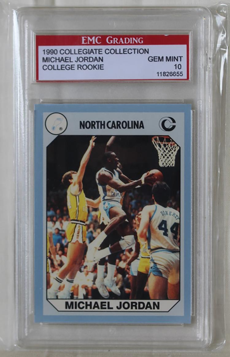 Michael Jordan 1990 College Basketball Card