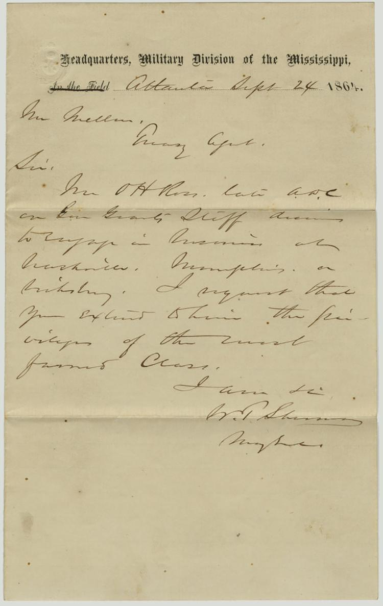 Historic Civil War Hand Written Amp Signed Letter By General W