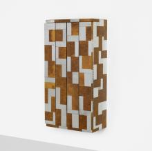 Paul Evans, wall-mounted Cityscape cabinet from the PE 400 series