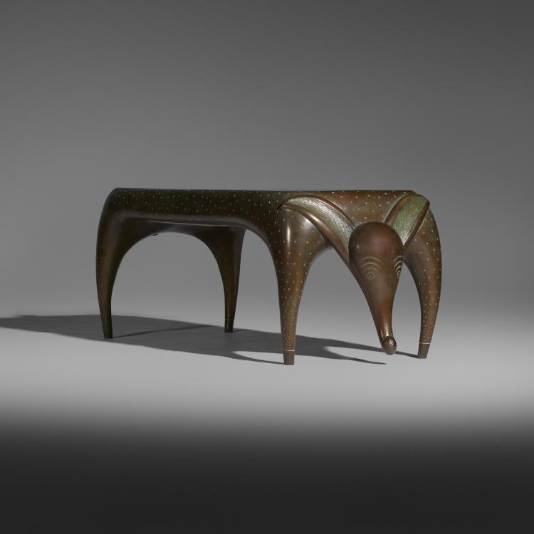 Judy Kensley Mckie Timid Dog Bench