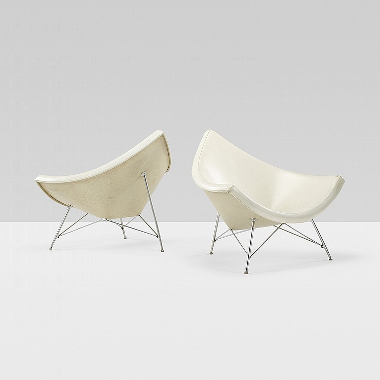 George Nelson & Associates Coconut chairs, pair
