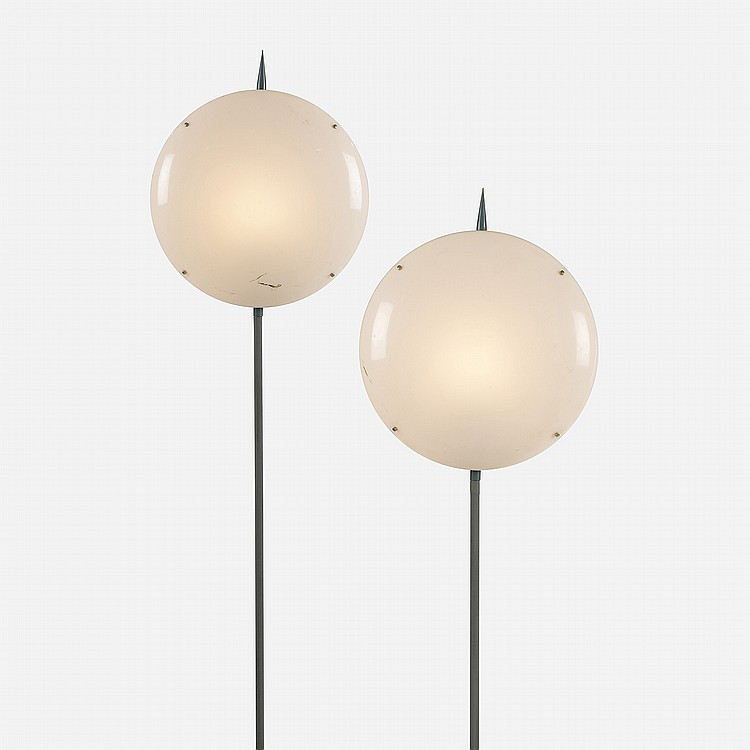 Gio Ponti pair of lamps from Villa Arreaza, Caracas