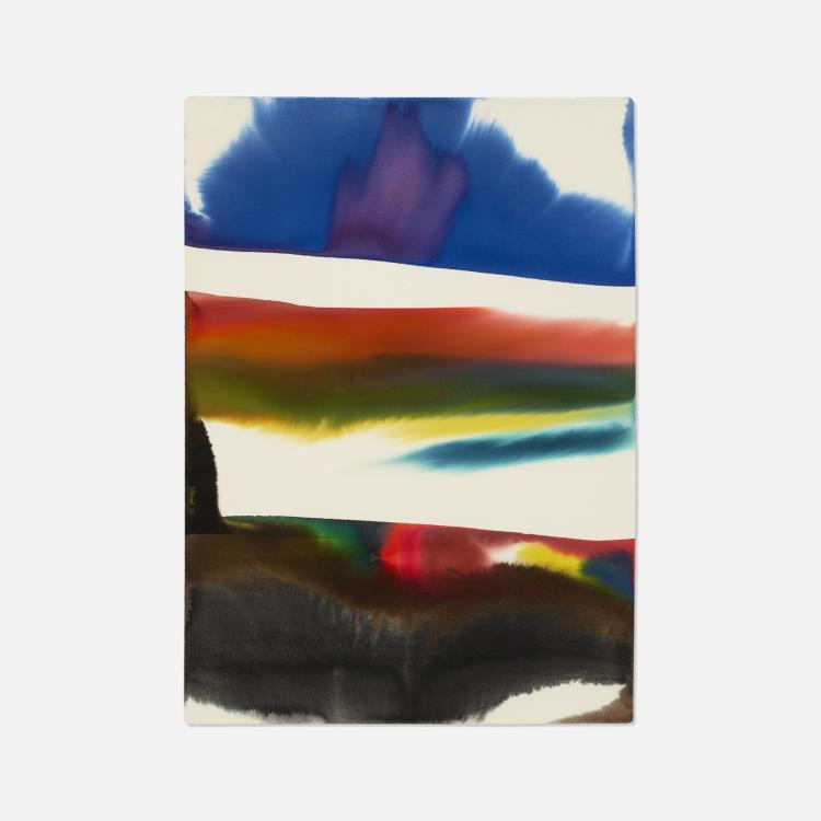 Paul Jenkins, Phenomena Rising Red to Blue Anatomy of a Cloud