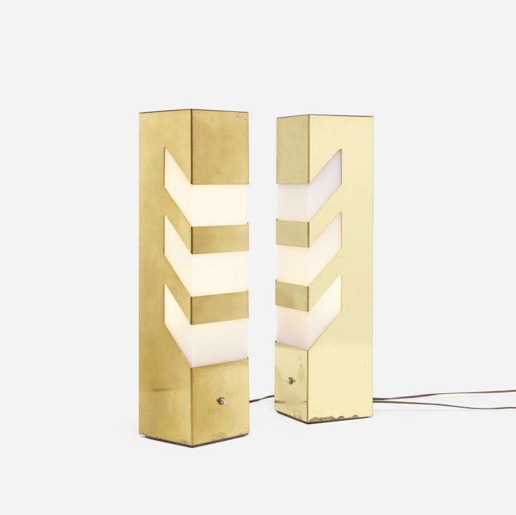Modern, table lamps, pair