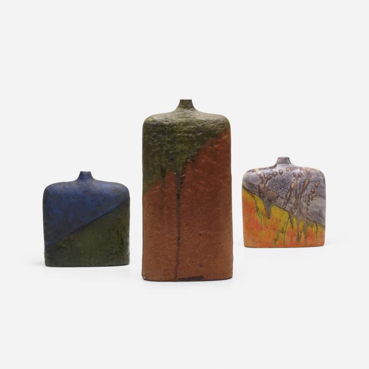 Marcello Fantoni, vases, collection of three