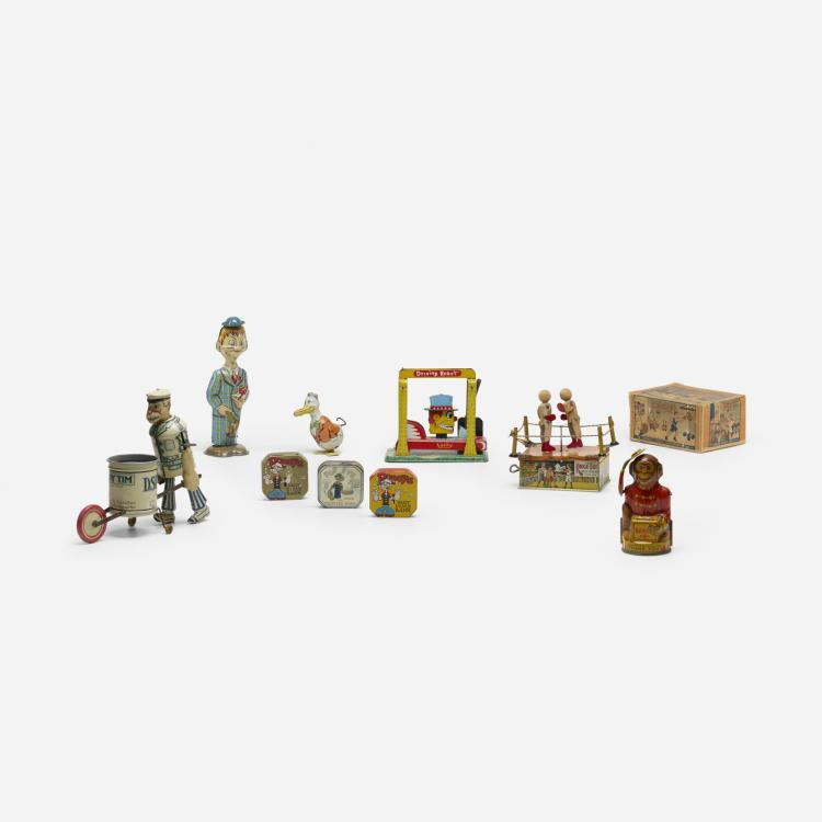 Early 20th Century, collection of nine tin toys