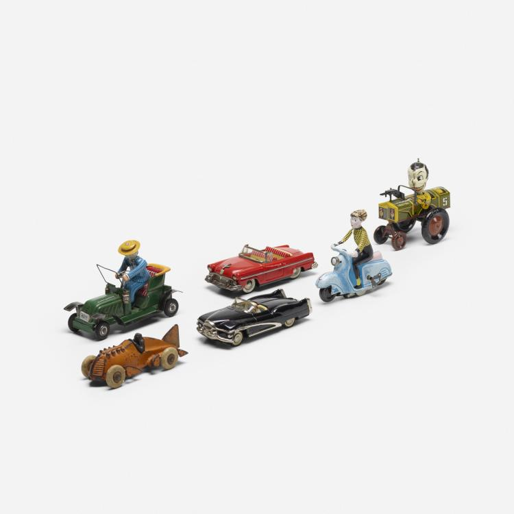 Early 20th Century, collection of six tin toys