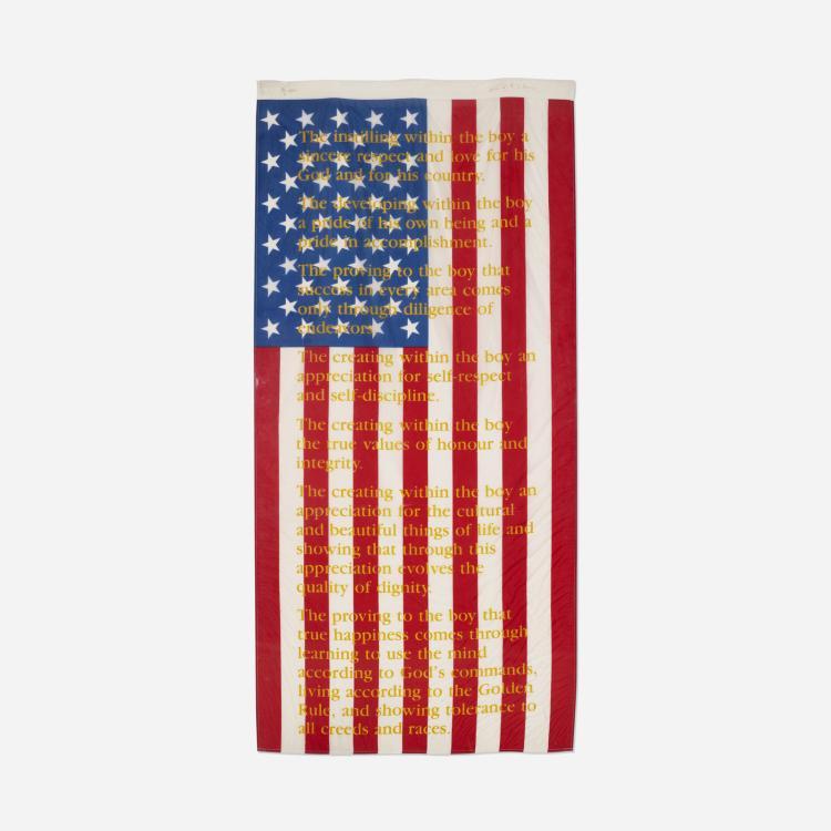 Attila Richard Lukacs, American Flag