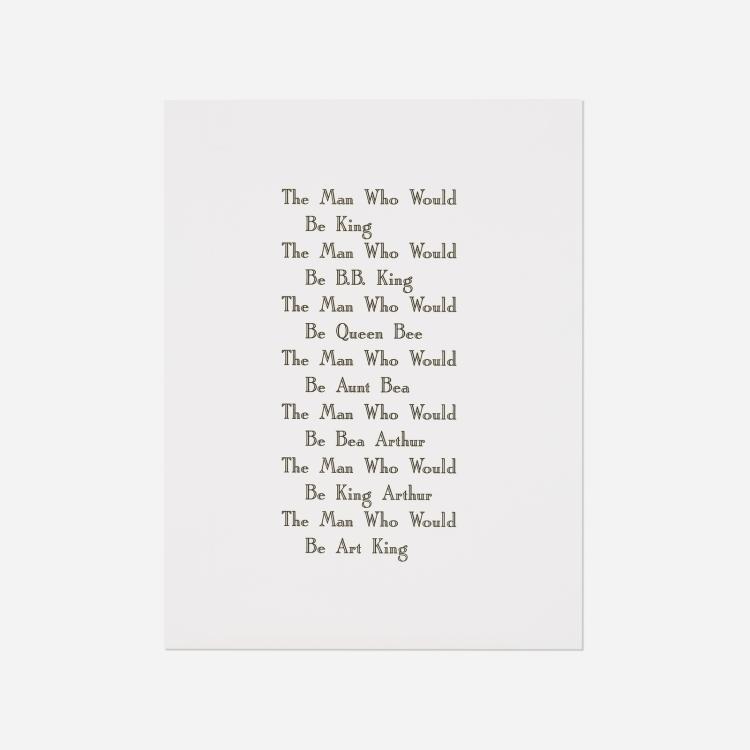 Kay Rosen, The Man