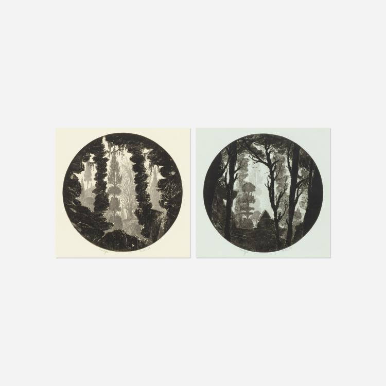 Francois Houtin, Untitled (two works)