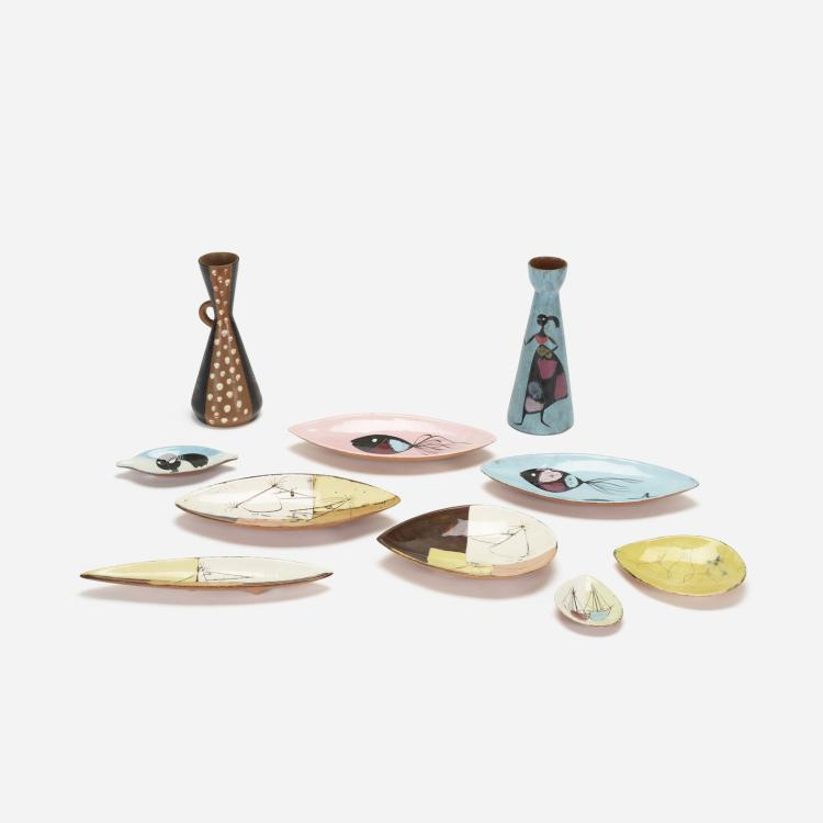 Edmond Ronaky, collection of tableware