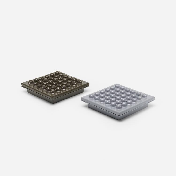 Ettore Sottsass, Synthesis 45 ashtrays, pair