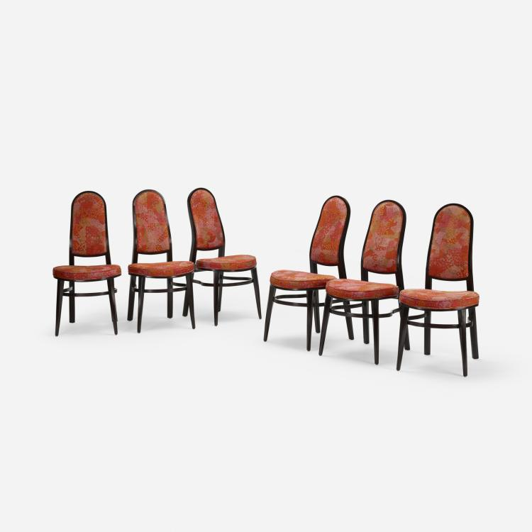 Edward Wormley, dining chairs, set of six