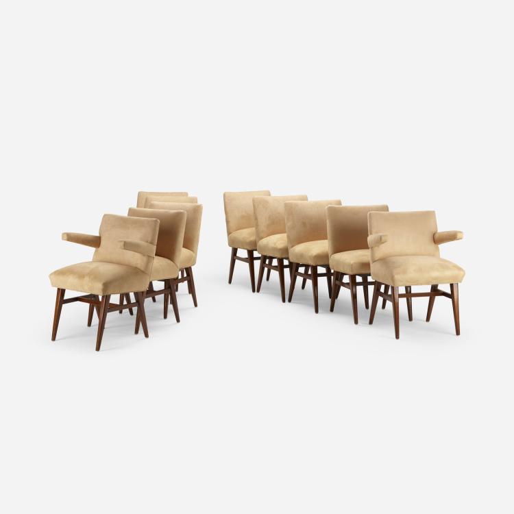 T.H. Robsjohn-Gibbings, dining chairs, set of ten