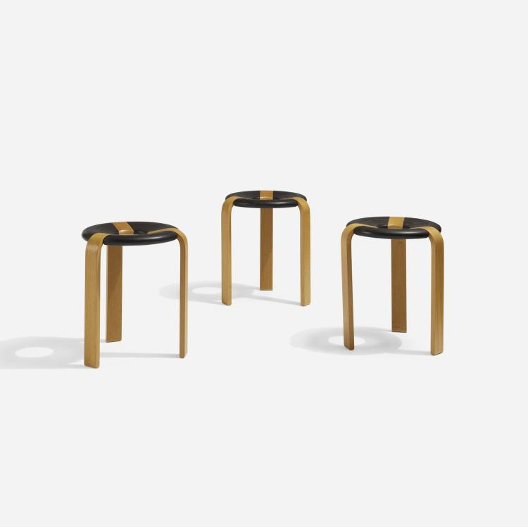 Rud Thygesen, stools, set of three