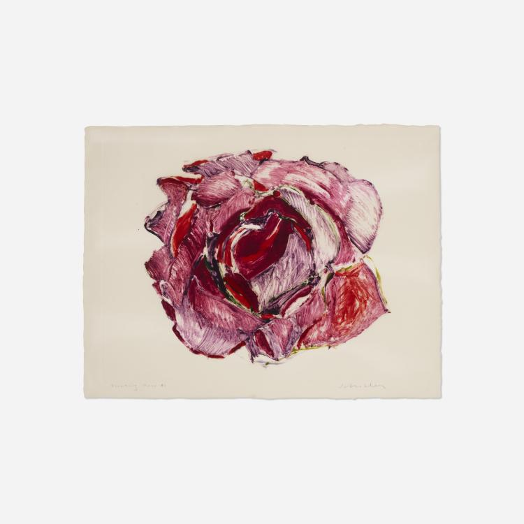 Fritz Scholder, Floating Rose #1