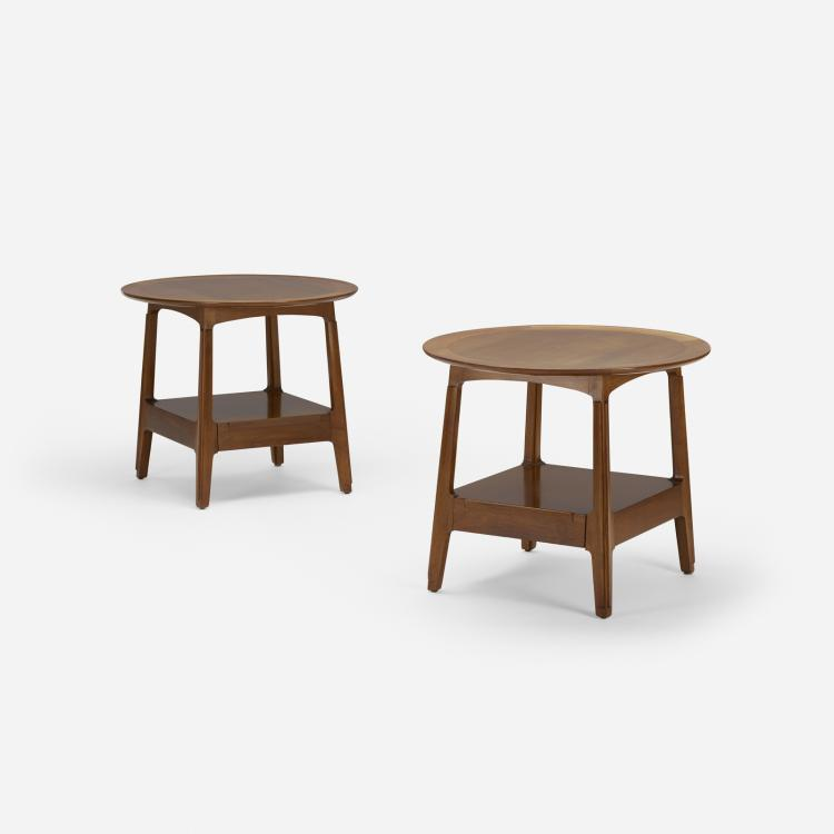 Edward Wormley, occasional tables, pair