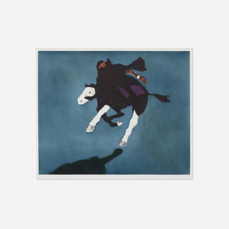 Fritz Scholder, Galloping Indian after Leigh