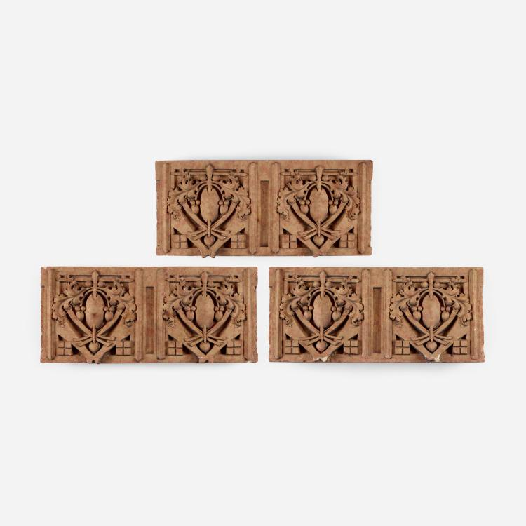 George Grant Elmslie, set of three architectural elements from the Thomas A. Edison School, Hammond, IN